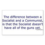 Socialist and Communist Rectangle Sticker