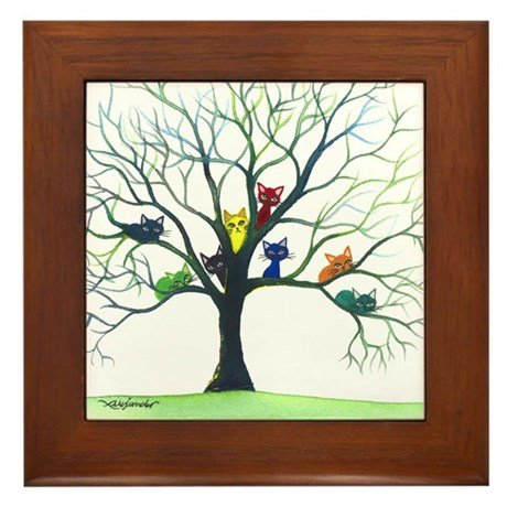 Eau Claire Stray Cats Framed Tile