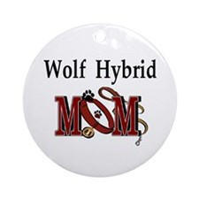 Wolf Hybrid Ornament (Round)