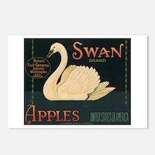 Swan Apples Postcards (Package of 8)