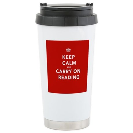 Keep Calm Carry On Reading Stainless Steel Travel