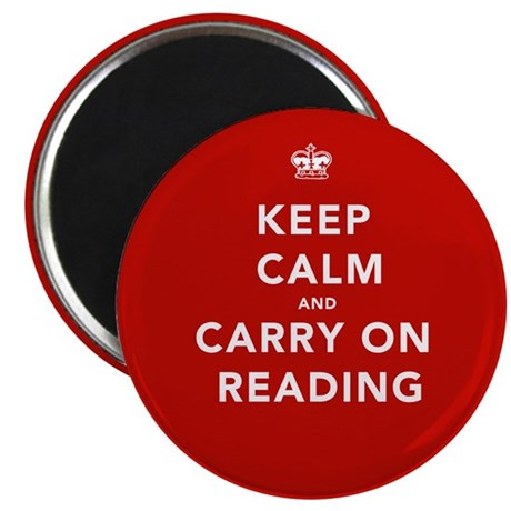 """Keep Calm Carry On Reading 2.25"""" Magnet (10 pack)"""