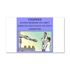engineer engineering joke Car Magnet 12 x 20
