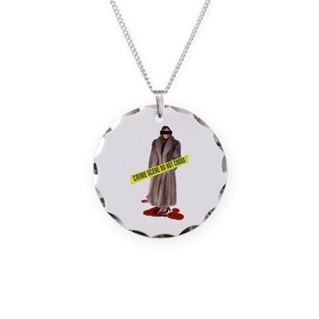 Crime Scene Necklace Circle Charm