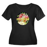 Pasadena Women's Plus Size Scoop Neck Dark T-Shirt