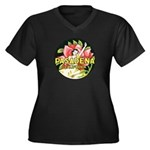 Pasadena Women's Plus Size V-Neck Dark T-Shirt