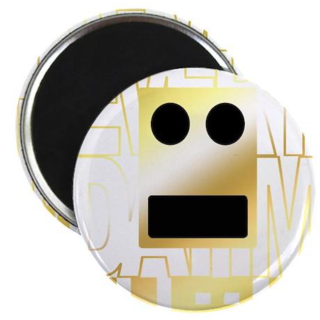 "Shufflin Boxhead Gold 2.25"" Magnet (100 pack)"