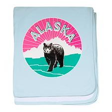 Alaska Bear baby blanket