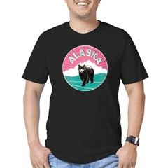 Alaska Bear Men's Fitted T-Shirt (dark)