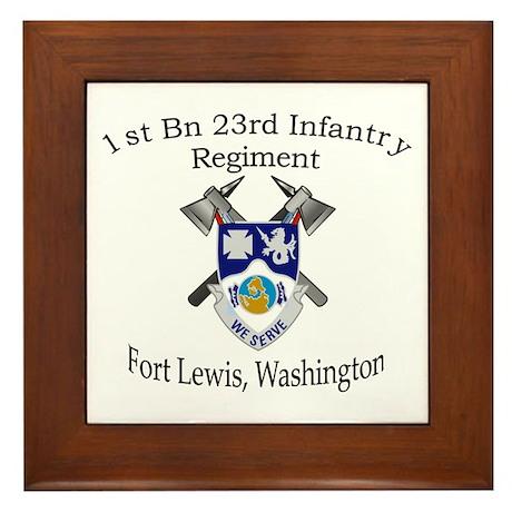 1st Bn 23rd Infantry Framed Tile