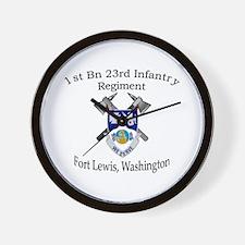 1st Bn 23rd Infantry Wall Clock