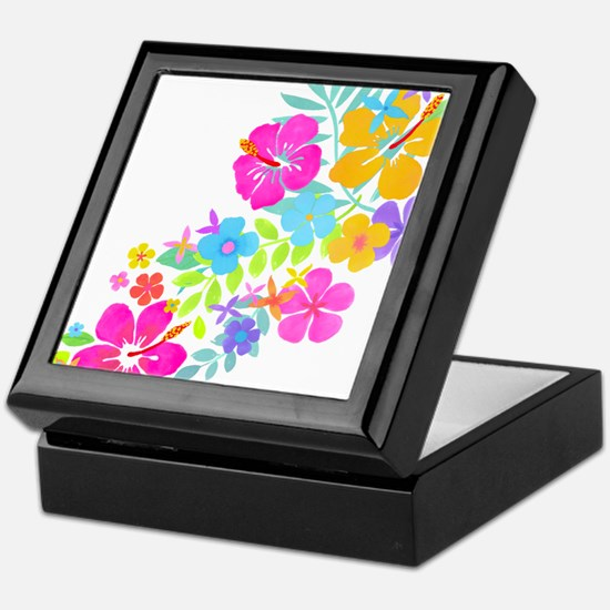 Tropical Flowers Keepsake Box