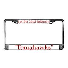 1st Bn 23rd Infantry License Plate Frame