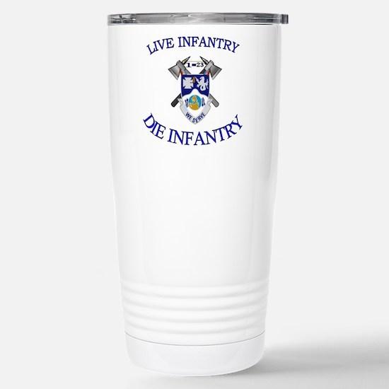 1st Bn 23rd Infantry Stainless Steel Travel Mug