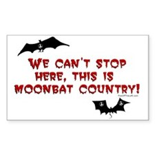 This is Moonbat Country! Rectangle Decal
