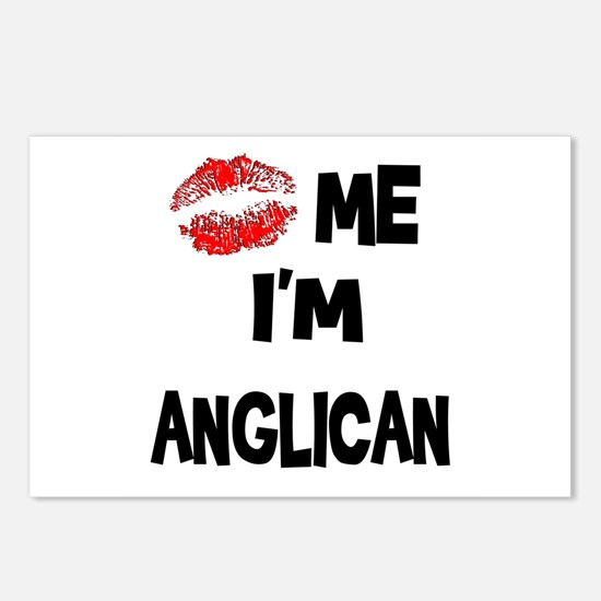 Kiss Me I'm Anglican Postcards (Package of 8)