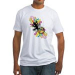 Groovy Gecko Fitted T-Shirt