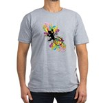 Groovy Gecko Men's Fitted T-Shirt (dark)