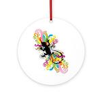 Groovy Gecko Ornament (Round)