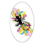 Groovy Gecko Sticker (Oval)