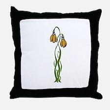 Wordslinger Flower Throw Pillow