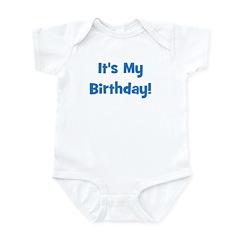 It's My Birthday! Blue Infant Creeper