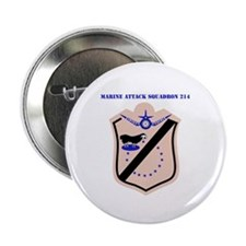 "Marine Attack Squadron 214 with Text 2.25"" Button"
