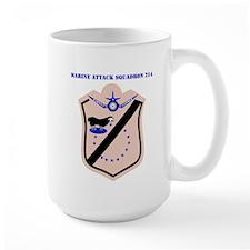 Marine Attack Squadron 214 with Text Mug