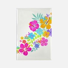 Tropical Flowers Rectangle Magnet