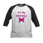 It's My Birthday! Butterfly Kids Baseball Jersey
