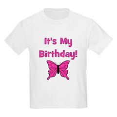 It's My Birthday! Butterfly Kids T-Shirt