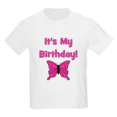 It's My Birthday! Butterfly Kids T-Shirt