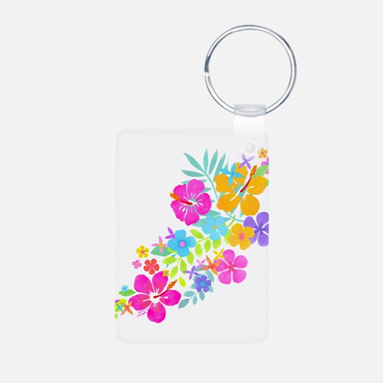 Tropical Flowers Keychains
