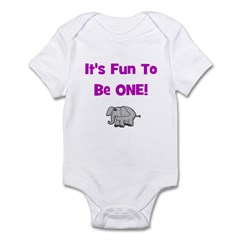 It's Fun To Be One! Elephant Infant Creeper