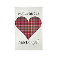 Heart - MacDougall Rectangle Magnet