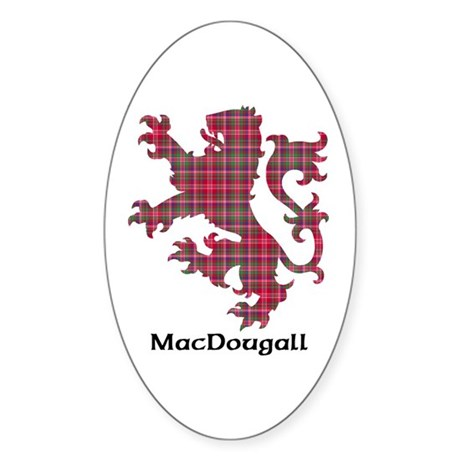 Lion - MacDougall Sticker (Oval 10 pk)