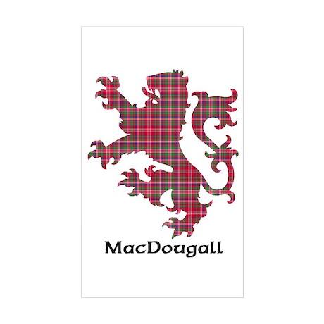 Lion - MacDougall Sticker (Rectangle)