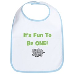 It's Fun To Be ONE! Elephant Bib