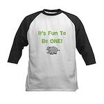 It's Fun To Be ONE! Elephant Kids Baseball Jersey