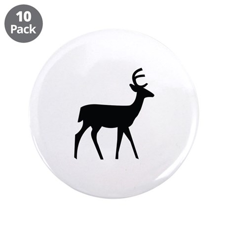 "Deer Image 3.5"" Button (10 pack)"