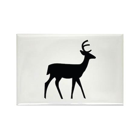 Deer Image Rectangle Magnet