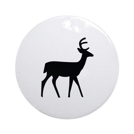 Deer Image Ornament (Round)