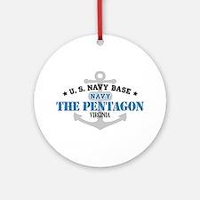 US Navy Pentagon Base Ornament (Round)