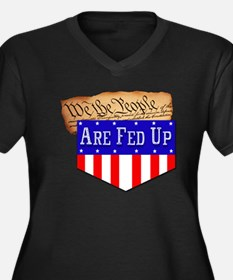 We the People are Fed Up! Women's Plus Size V-Neck