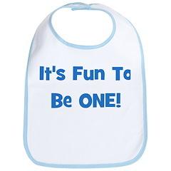 It's Fun To Be ONE! Blue Bib