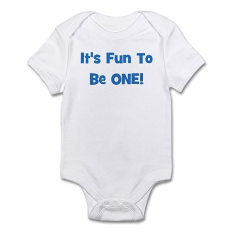 It's Fun To Be ONE! Blue Infant Creeper