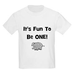 It's Fun To Be ONE! Elephant Kids T-Shirt