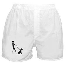 Walk Dog Image Boxer Shorts