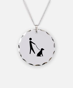 Walk Dog Image Necklace