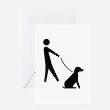 Walk Dog Image Greeting Card